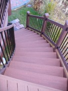 curved stairs, deck builder, chester county decks