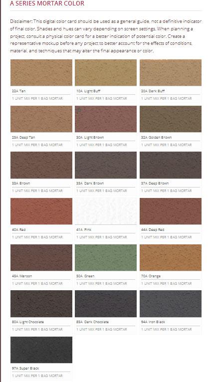 Quikrete Mortar Color Chart Coloringsite