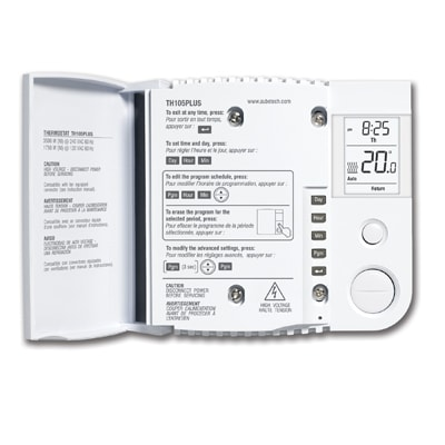 Line Volt 5-2 programmable thermostat with TRIAC for