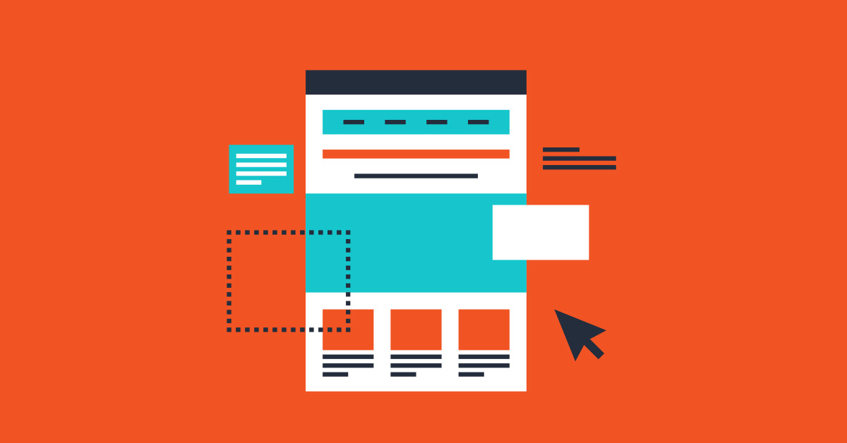 Illustration of a landing page