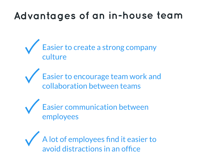 Advantages of in-house customer service team