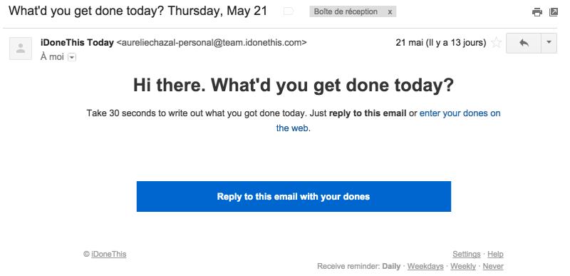 iDoneThis daily email productivity