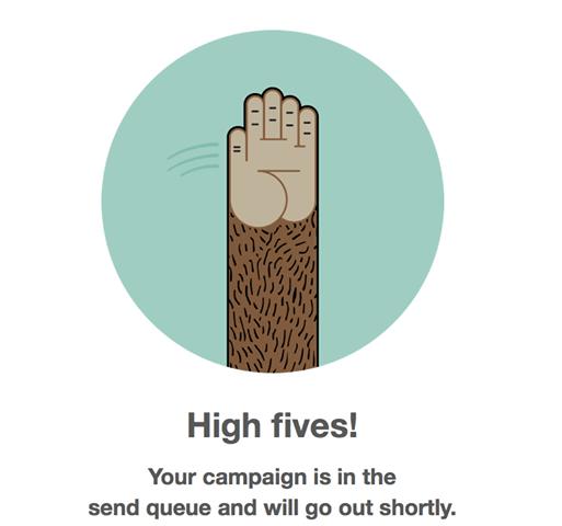 Highfive the MailChimp Mascott!