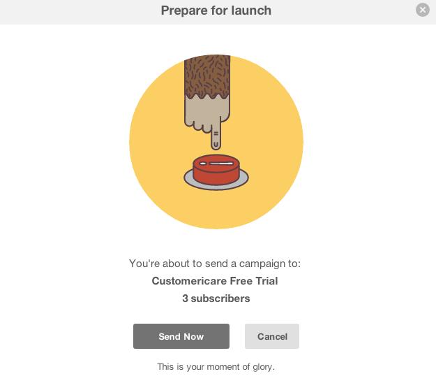 MailChimp emotional design when launching a campaign
