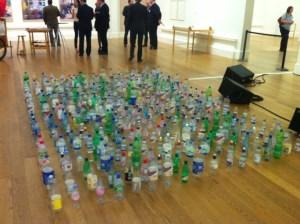 Bottles in art exhibition