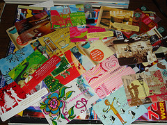 Starbucks card collection - flickr photo by mightykenny