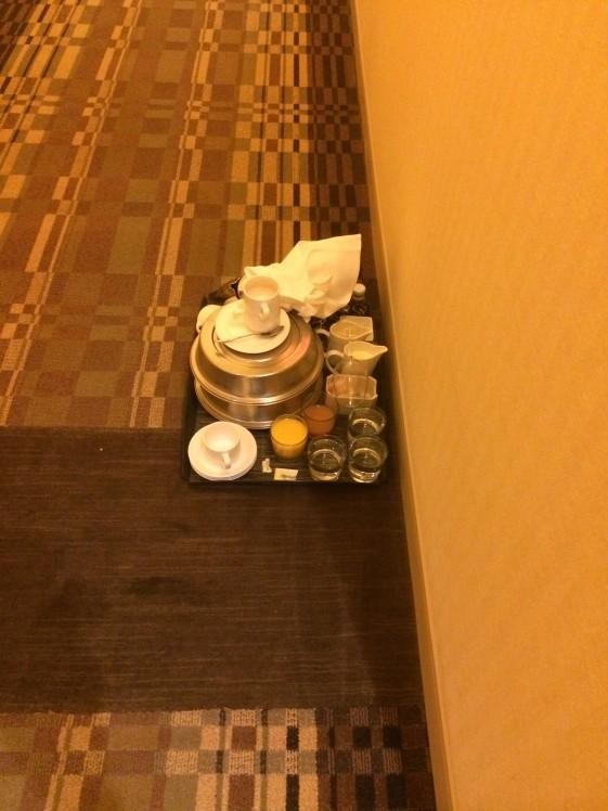 Minor Customer Experience Issues | Room Service Tray on Floor