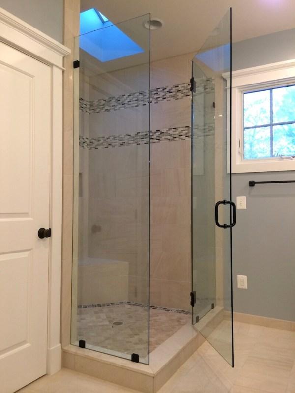 Frameless Corner Shower Enclosure