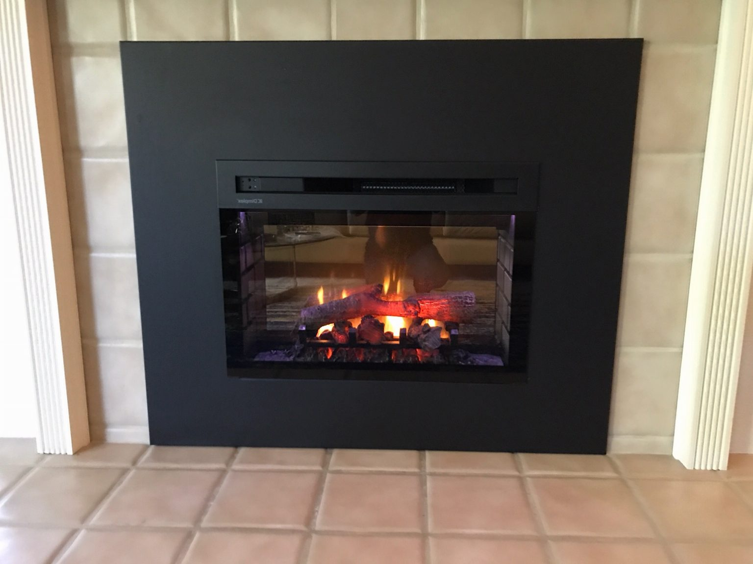 Dimplex Electric Fireplace Insert Into Wood Fireplace