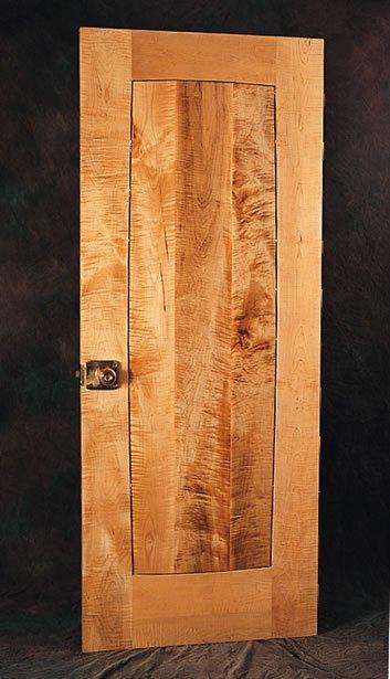 Custom Doors Curly Maple Door