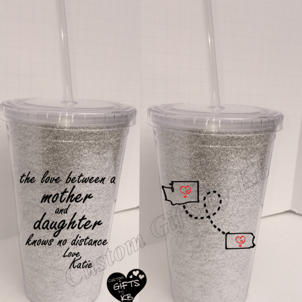 Love Between Mother And Daughter Tumbler Custom Gifts By