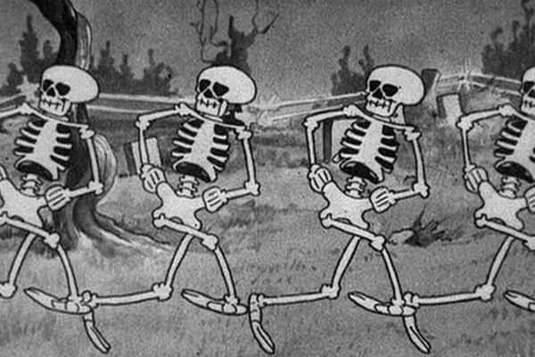 Skeleton Dance from Disney's Silly Symphonies – Best Animated Horror Cartoon Characters