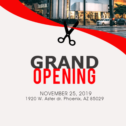 grand opening banner customize