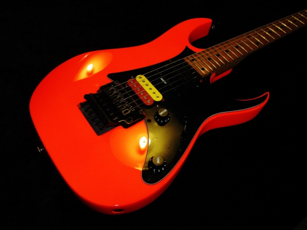 medium resolution of ibanez repaint in road flare red neon new pickups and wiring