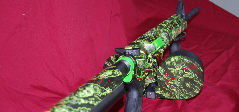 AR15 Bushmaster Zombie Hunter in Proveil Reaper Z and Splash of Blood