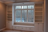 Window Seat With Built In Bookcases | Car Interior Design