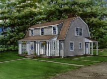 Artistic Cape Code Style - Architecture Plans 22104