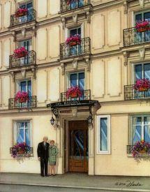 Paris Hotel Custom House Portraits Richelle Flecke