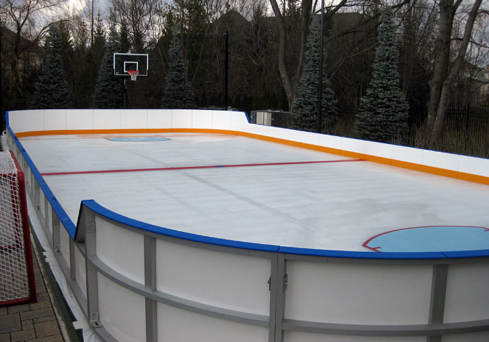 rink boards and handrails