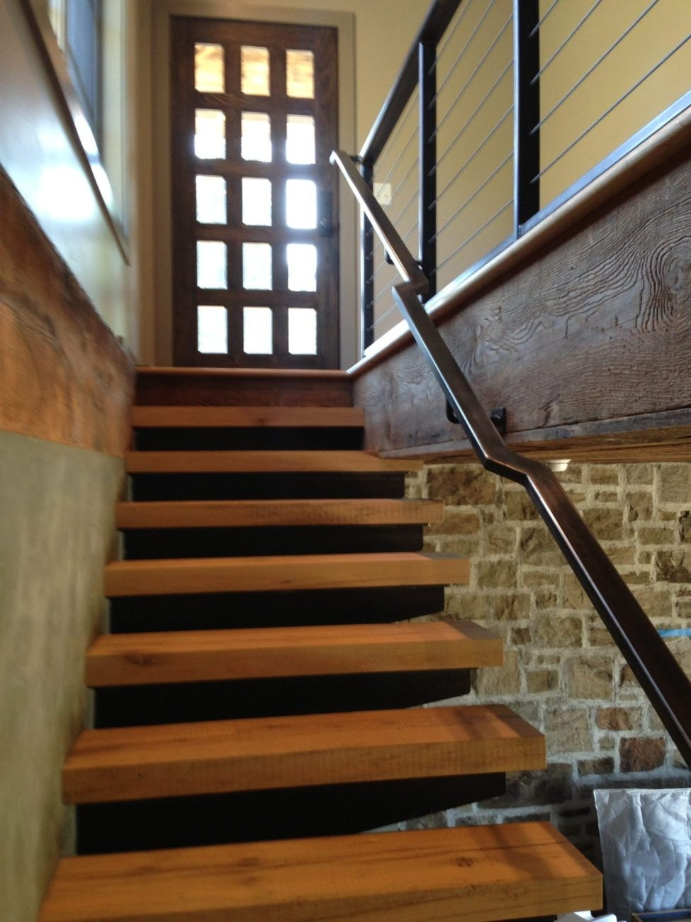 Stairs And Railing – Custom Ii Manufacturing | Steel Stairs With Wood Treads | Wooden Stair | Glass | Exterior | Pine Wood Tread | Typical