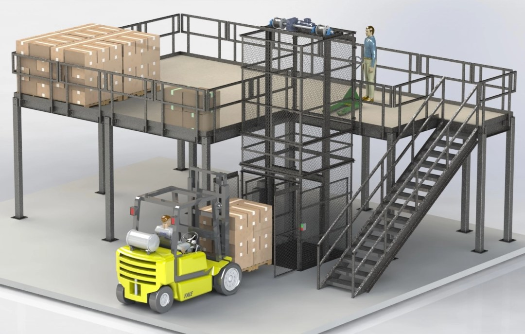 Picture of a CIP mezzanine and VRC