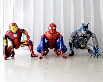 giant 3D Spiderman and iron-man globos foil party balloon