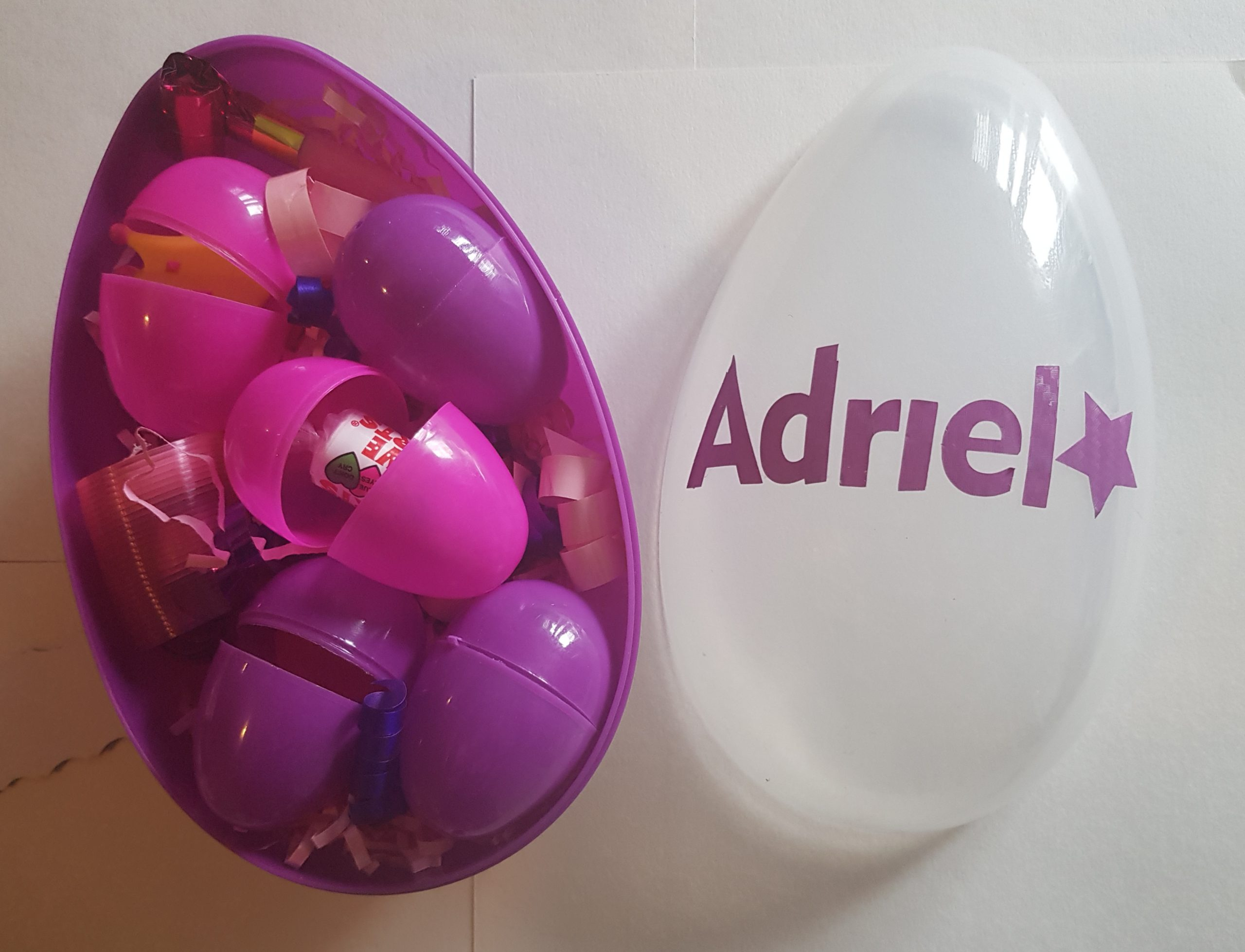 giant personalised surprise egg