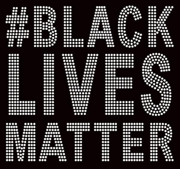 black lives matter rhinestone transfer