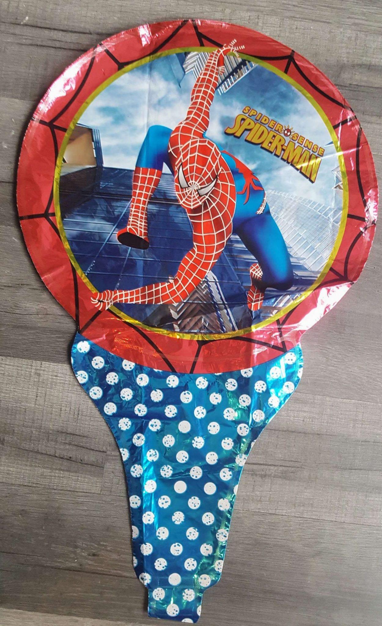 spiderman superhero handheld foil balloon