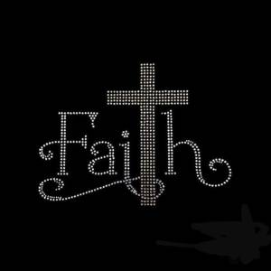 faith rhinestone transfer