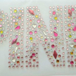 Pink rhinestone transfer
