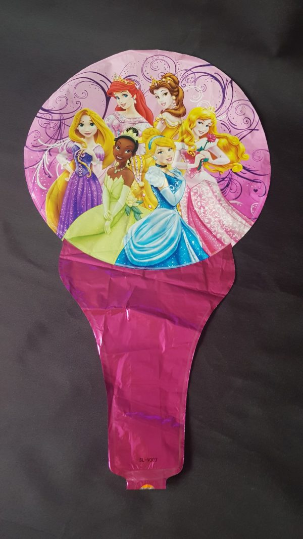 princess handheld baton foil balloon