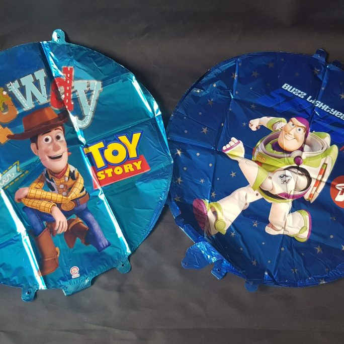"toy story, buzz or woody 18"" round foil balloons"