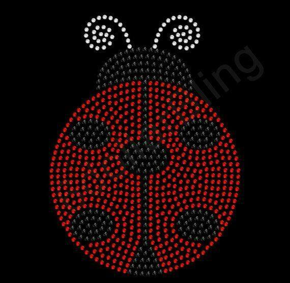 ladybug rhinestone transfer