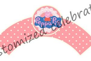 peppa pig cupcake wraps
