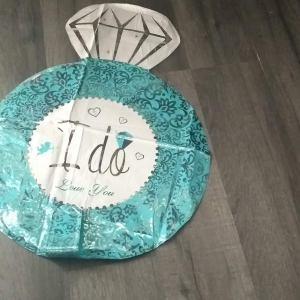 ' i do ' engagement ring foil balloon