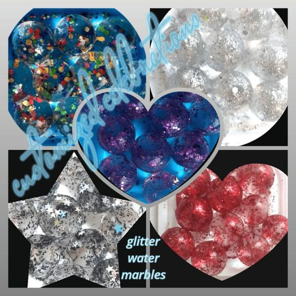 glitter water marbles