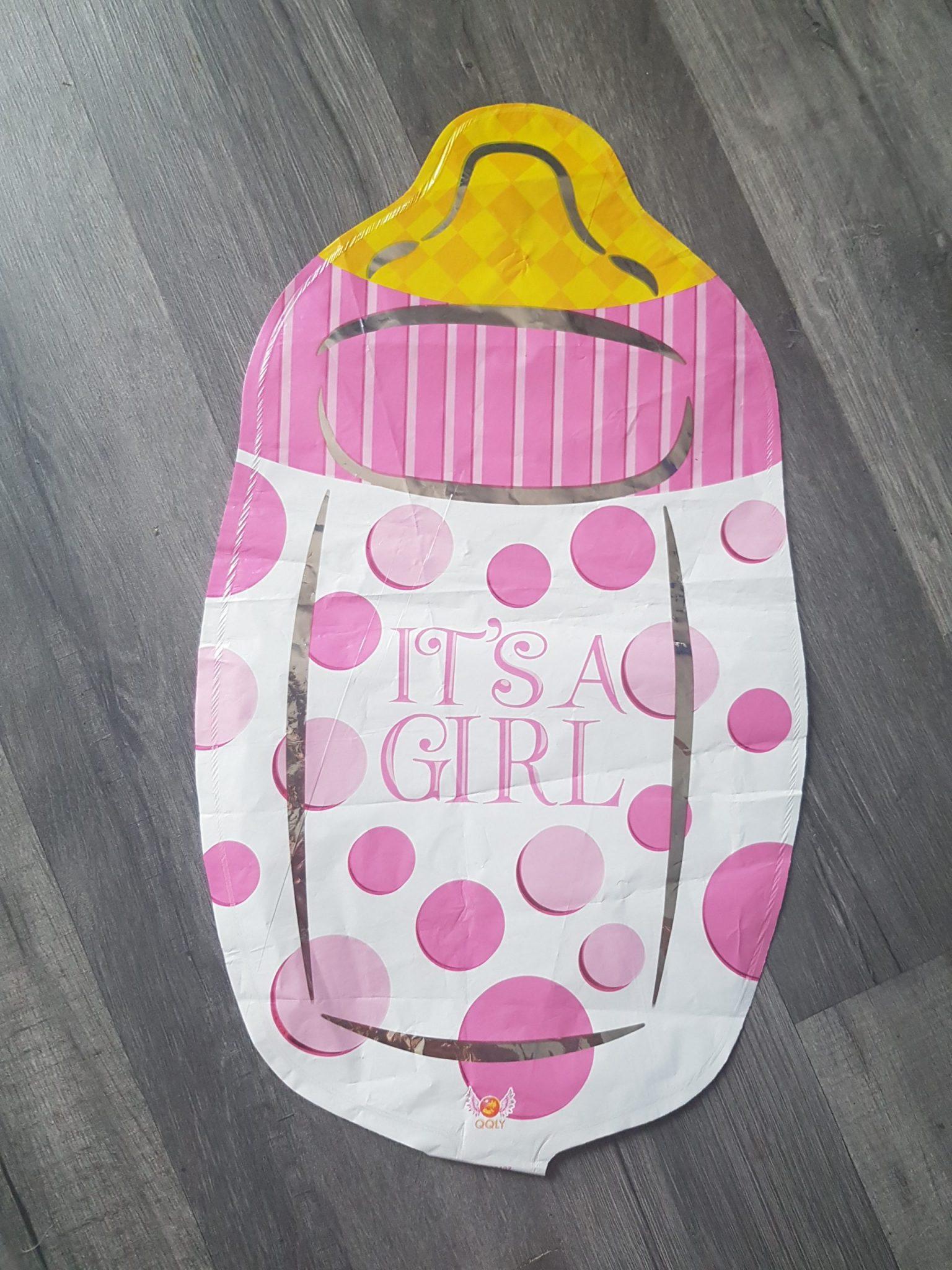 baby bottle handheld foil balloon