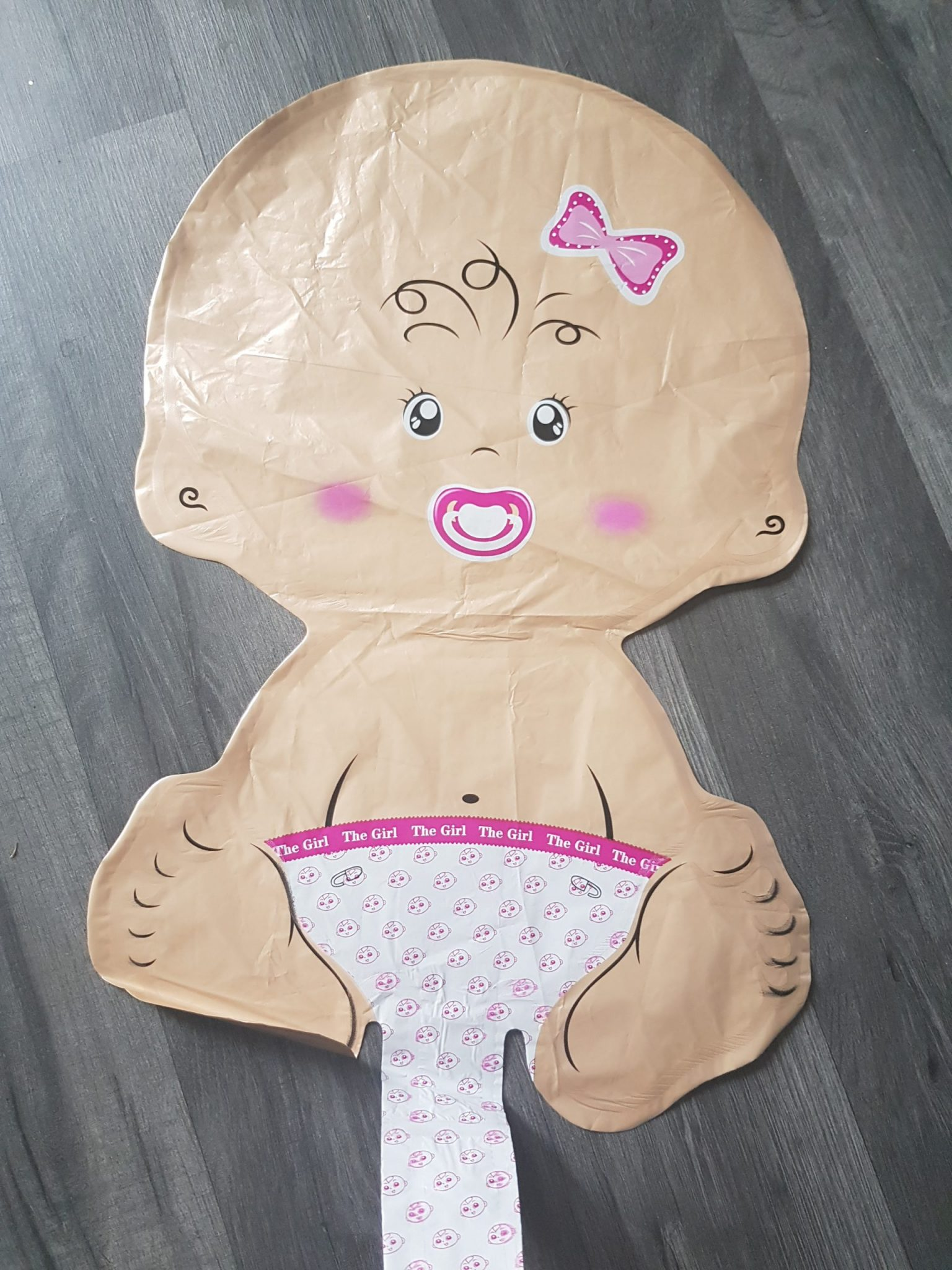 baby girl handheld foil balloon