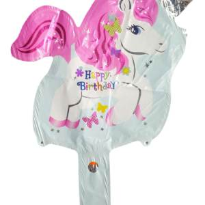 unicorn handheld baton foil balloon