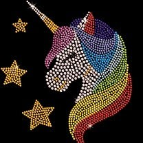 rainbow unicorn rhinestone transfer