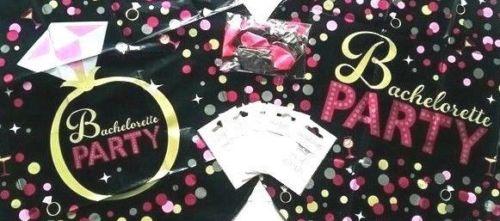 Hen party kit, black PINK SUPER BUNDLE, FOIL BALLOON, TATTOOS PARTY DECORATION.