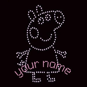 peppa pig personalised rhinestone transfer