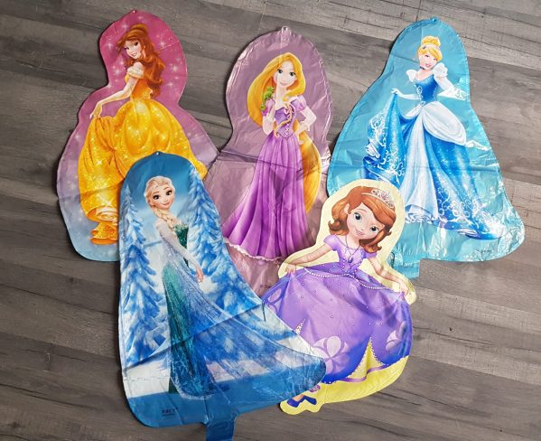 princess character 3D foil balloons balloons 3d