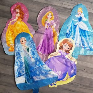 princess character 3D foil balloons scaled