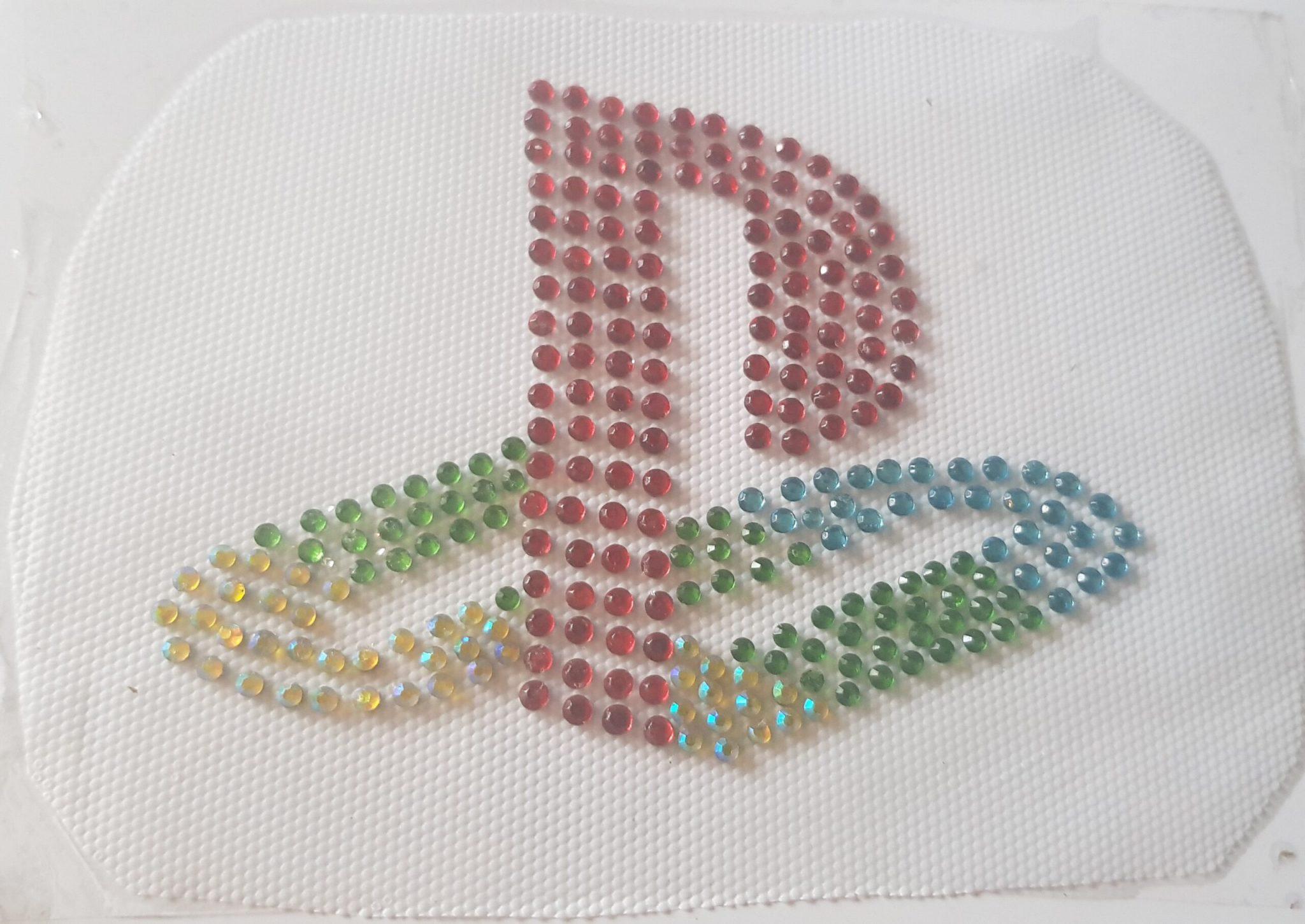 PlayStation logo rhinestone transfer