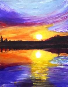 Purple Sunset Acrylic