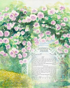 Pink Rose Arbour WaterColour