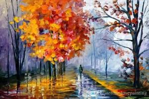 Orange Rain Fall