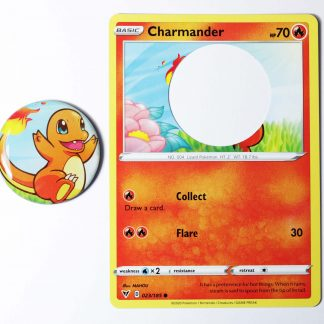 Charmander magnet made from a real pokemon card